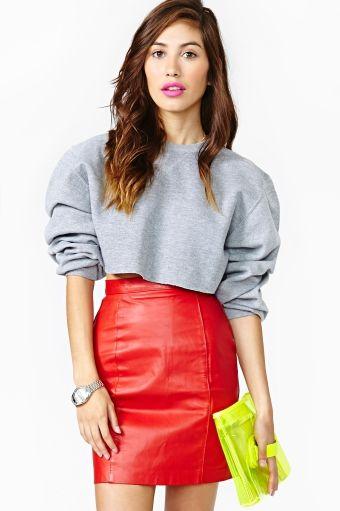 Fire Power Leather Skirt