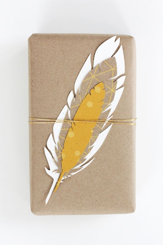 feather giftwrap