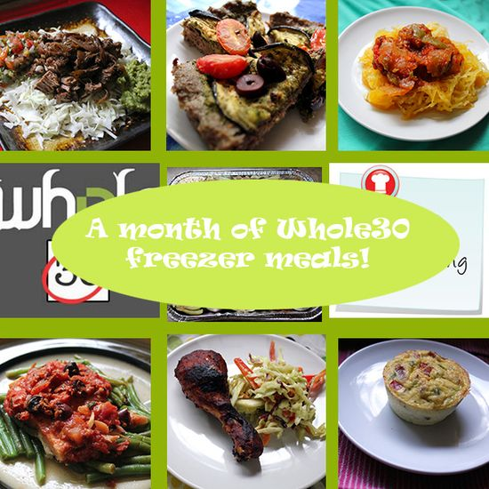 A month of Whole30 paleo freezer recipes! ~ Stuff I Make My Husband