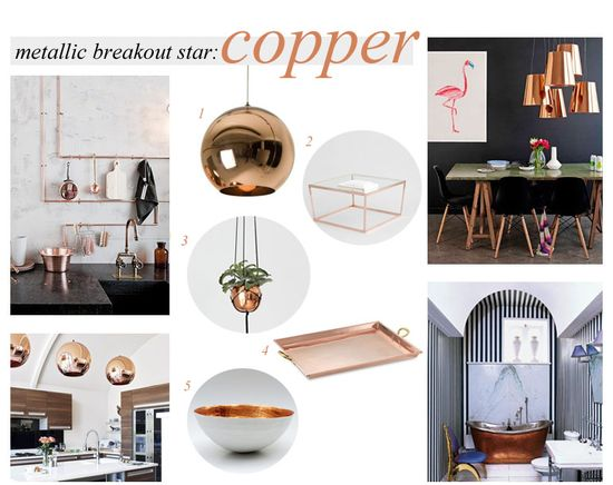 copper accents in home design #interiordesign #decor #home #copper