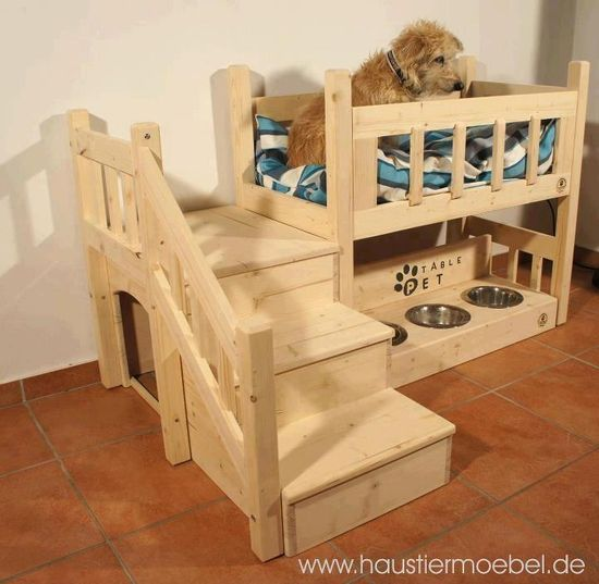 Creative dog bed...it would be great for my cats also!