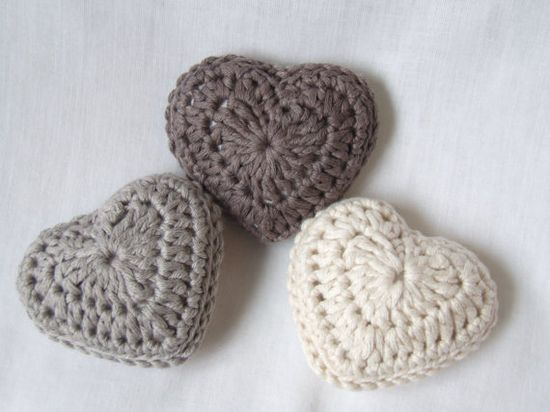 crochet hearts with lavender by BabanCat on Etsy, £10.00