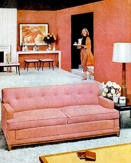 Living Room (1956) Simmons sleeper sofa ad