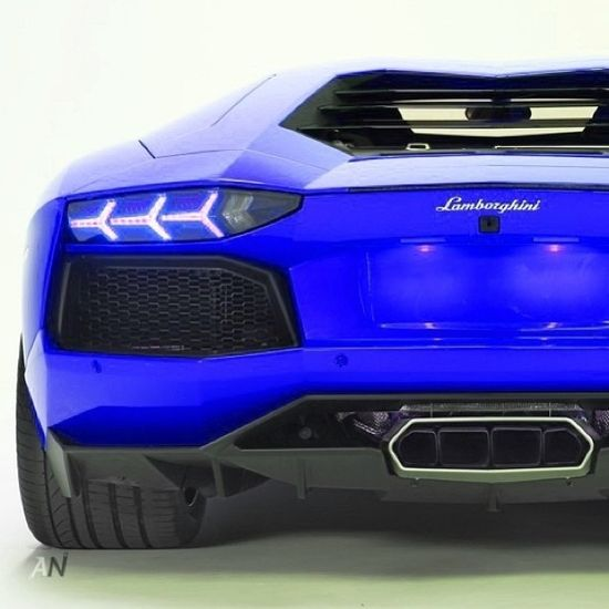 Sick Blue Lamborghini Aventador