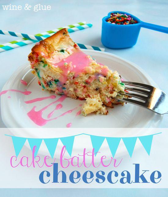 Cake Batter Cheesecake