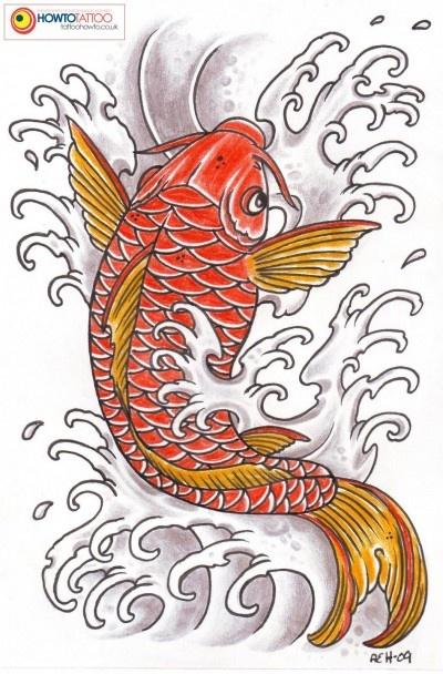 Small resolution image of koi tattoo pattern tattoology blogspot com