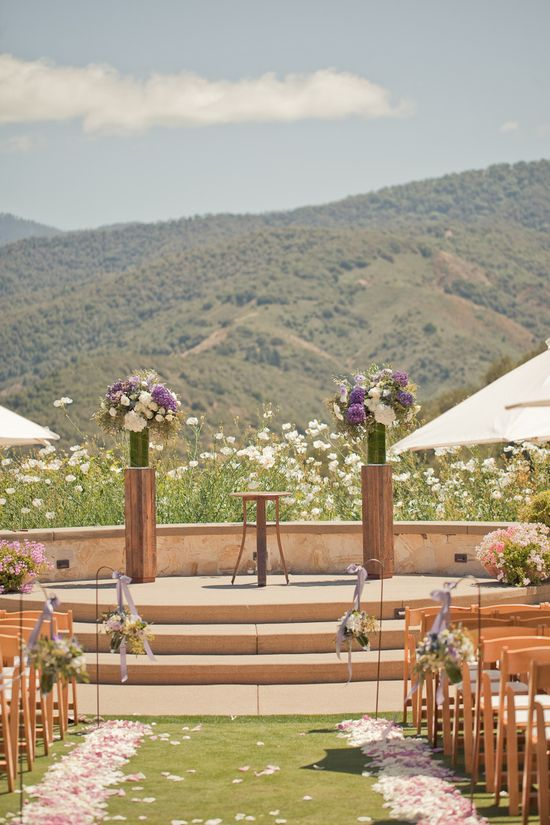 Talk about a stunning ceremony space (Carmel Valley, California) Photography by Carlie Statsky Photography / carliestatsky.com, Wedding Design + Planning by Amy Byrd Weddings / amybyrdweddings.com, Floral Design by Fleurs du Soleil / kimenglandflowers...