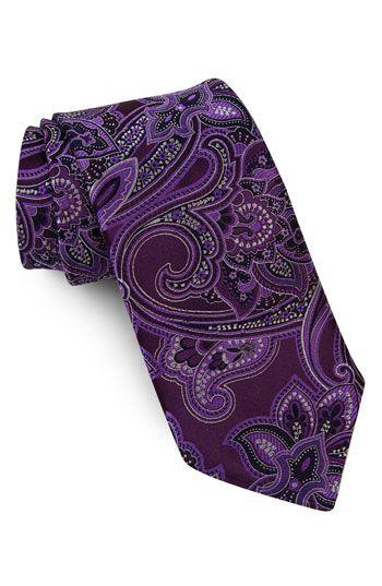 purple paisley tie