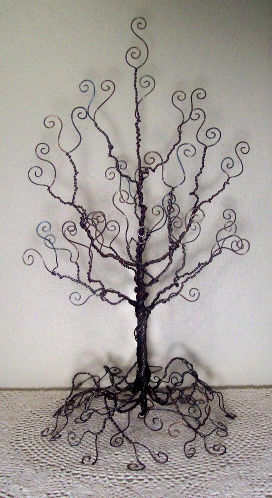 Wire Tree Jewelry Organizer