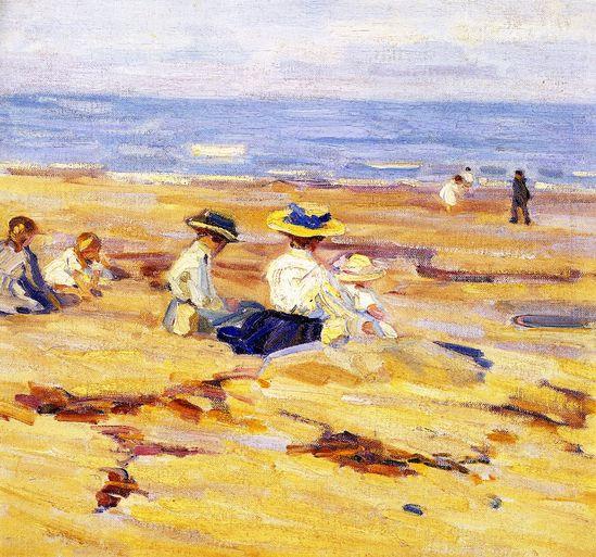 On the Beach (Helen Galloway McNicoll - )