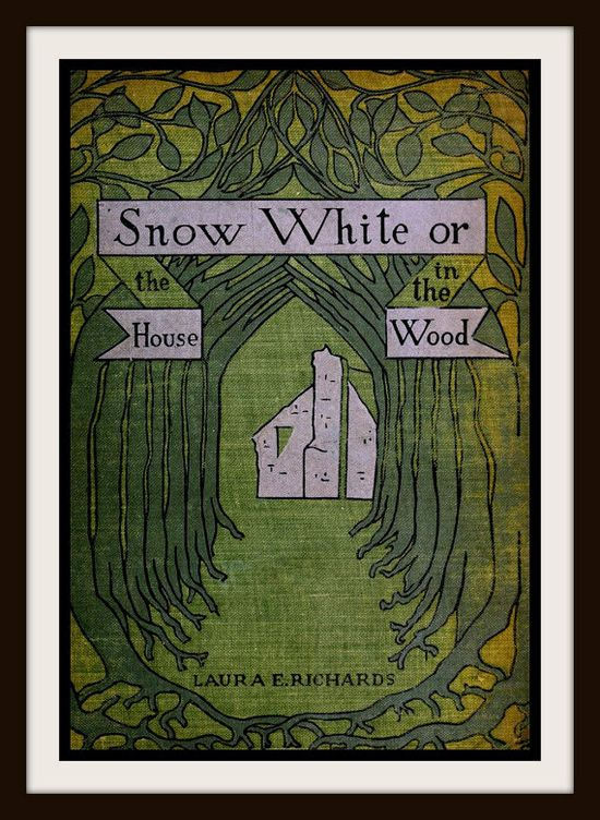 Vintage Book Cover Snow White or The House