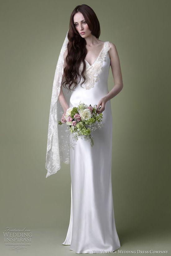 1930s ivory satin. The Vintage Wedding Dress Co.