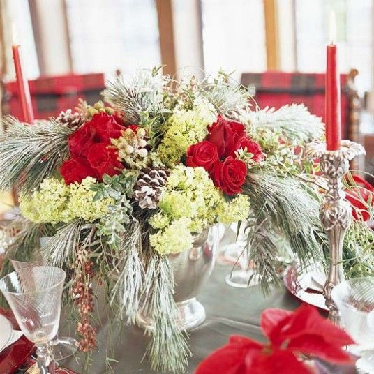 Flower Arrangements Ideas for Christmas Pictures