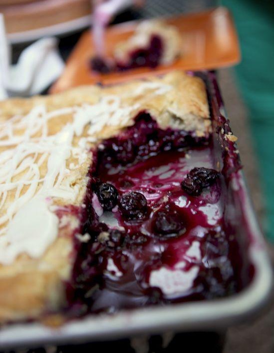 Blueberry Slab Pie…I'll adjust the citrus fruit and use a lemon. Blueberri