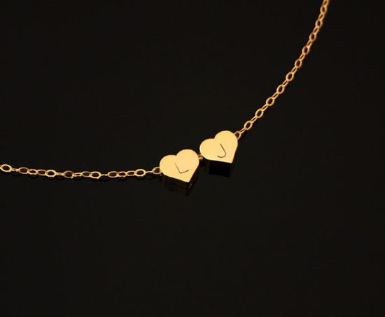 Engraved Initial Heart Necklace