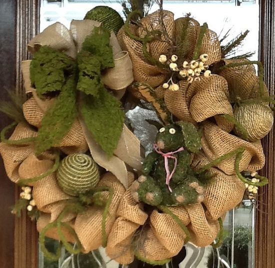 BURLAP and MOSS Deco Mesh WREATH