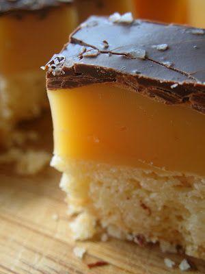 Salted Caramel Shortbread Bars