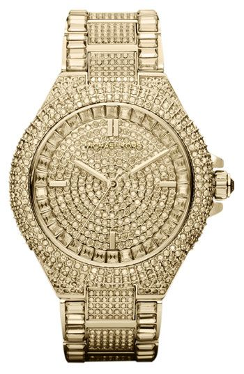 Michael Kors 'Camille' Crystal Encrusted Bracelet Watch..so icy