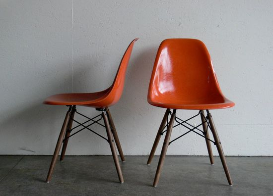 Eames for Herman Miller Dowel Base Side Chair-DSW