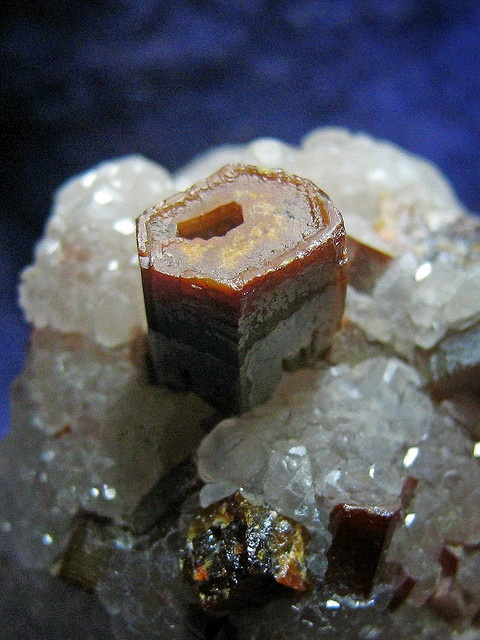 Hollow Vanadinite Crystal