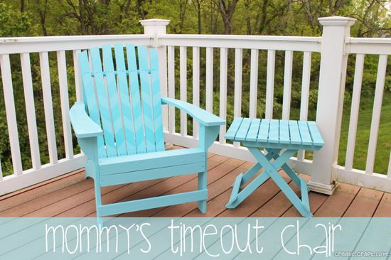 Furniture DIY {Mommys Timeout Chair} at createcraftlove.com #furniture #diy