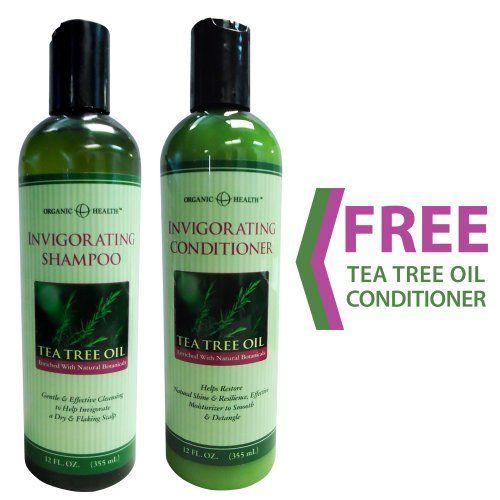 Organic Health Invigorating Tea Tree Oil Shampoo + FREE Invigorating Tea Tree Oil Conditioner by Organic Health. $19.99. Effective Moisturizer to Smooth & Detangle. Natural and Effective Remedy to Eliminating Dry Scalp & Dandruff. FREE Organic Health Invigorating Tea Tree Oil Conditioner (12 fl. oz.). Enriched with Natural Botanicals. Organic Health Invigorating Tea Tree Oil Shampoo (12 fl. oz.). Organic  HealthTM Invigorating Tea Tree Oil Shampoo   Tea Tree Oil Shampoo i...