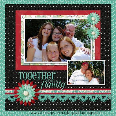 #scrapbook #scrapbooking #layout #family