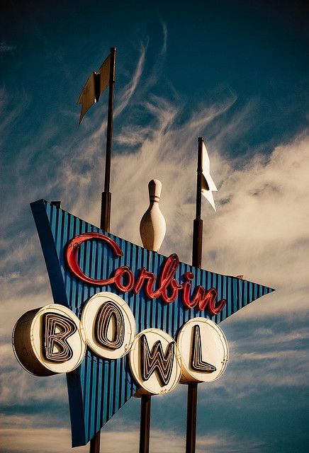 Corbin Bowl neon sign