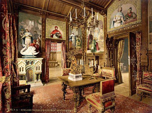 Neuschwanstein Castle interior pictures.