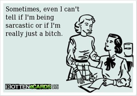 Probably just a bitch lol  funny someecards, funny  #ecard #humor #sarcasm
