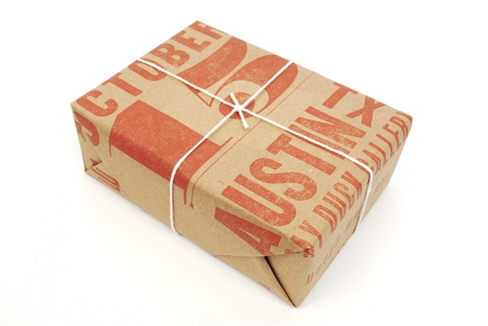 letterpress wrapping paper