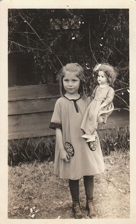 ~little girl with her doll~