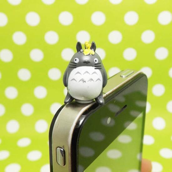 Cute Totoro Galesaur Cat Cartoon Anti Dust Plug 3.5mm Cell Phone Accessory Charm Headphone Jack Earphone Cap for iPhone 4 4S HTC Samsung. $3.88, via Etsy.
