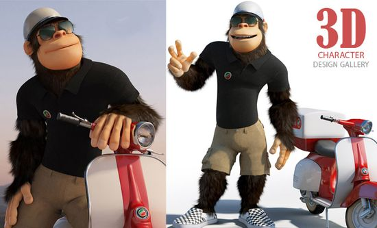 Monkey The Pizza Boy - Best 3D Animation and Character Design Collections. Follow us www.pinterest.com...