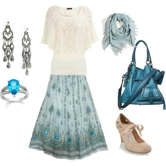 Bohemian Beauty - love the blues!