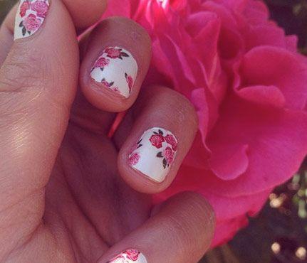 Summer Floral Nail Art   #ShayMitchell #NailArt