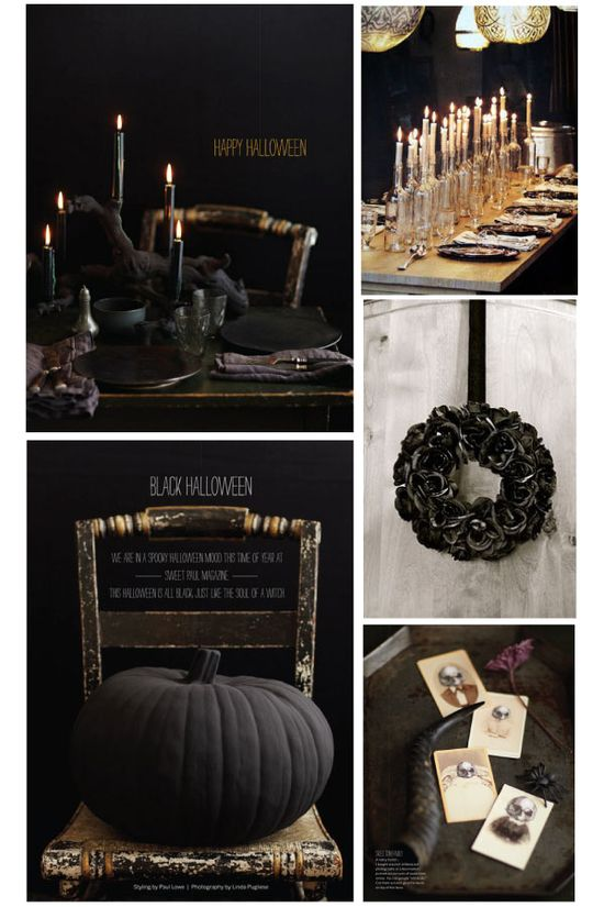 Great Halloween table in black