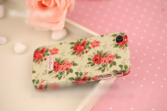 floral iphone 4 case floral iphone 4s case by PyramidKingdom