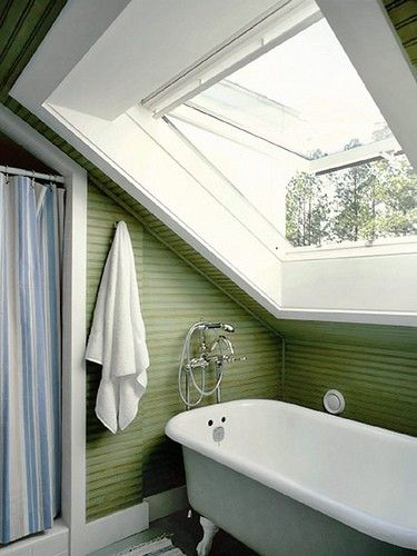 An idea for an attic bathroom.