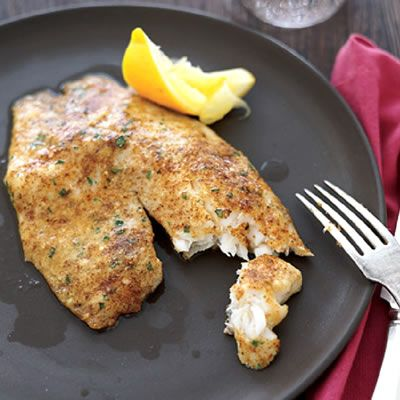Rachael Ray 5 ingredient parmesan crusted tilapia. prep 10 minutes, cook 10 minutes. Yum!