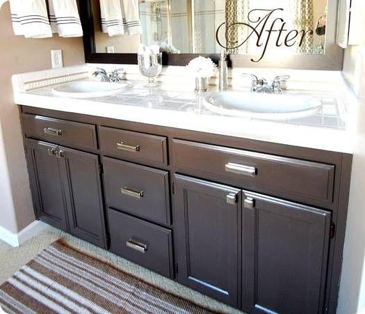 10 Bathroom Decor Ideas, Painting Bathroom Cabinets Dark Brown