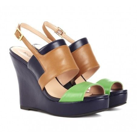 Colorblock Wedge Shoes.