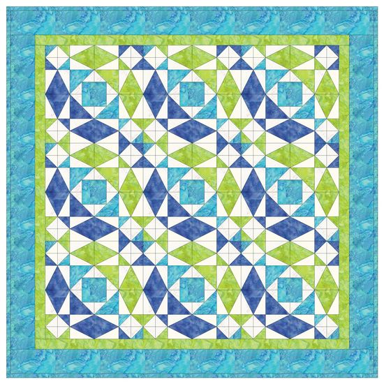 Take your quilting to the next level. Cutting the shapes for this popular design is a breeze with GO! dies. Use your favorite fabric to bring this very beautiful quilt to life.