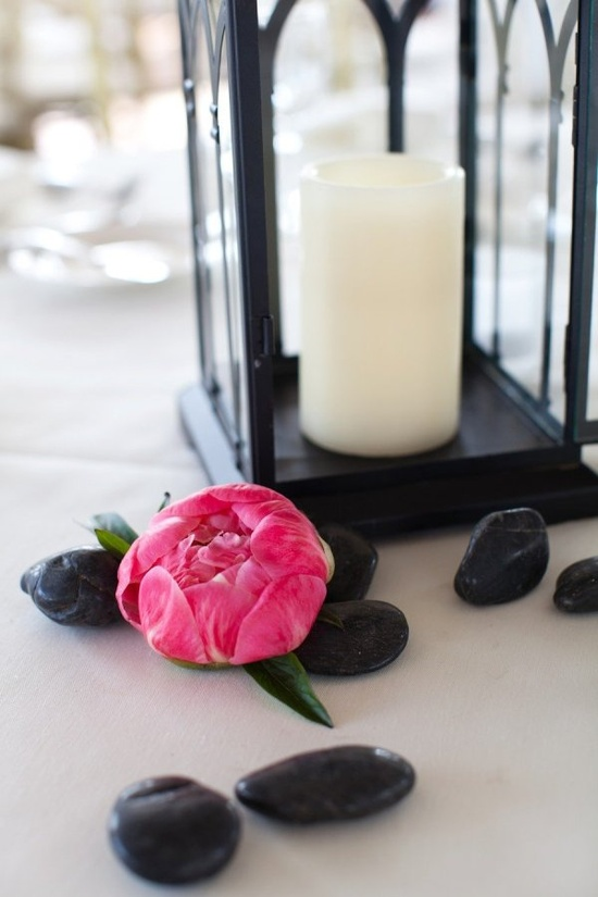Peonies and lanterns. Photography by deborahzoephoto.com, Floral Design by tonichandlerflora...