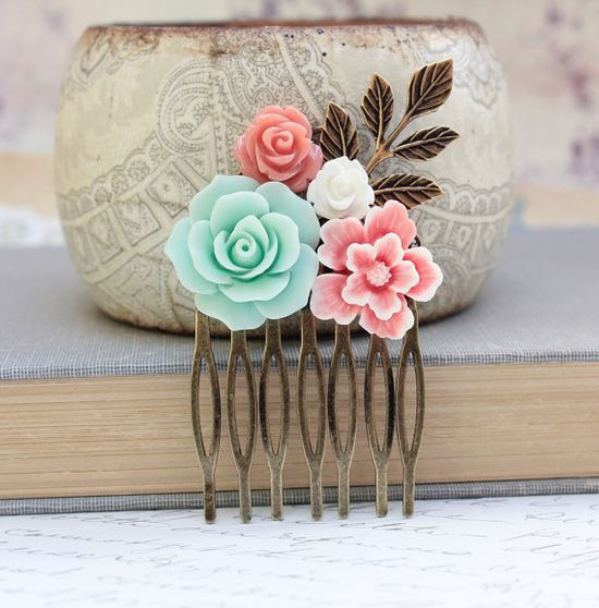 Flower Collage Comb Floral Hair Accessories by #apocketofposies