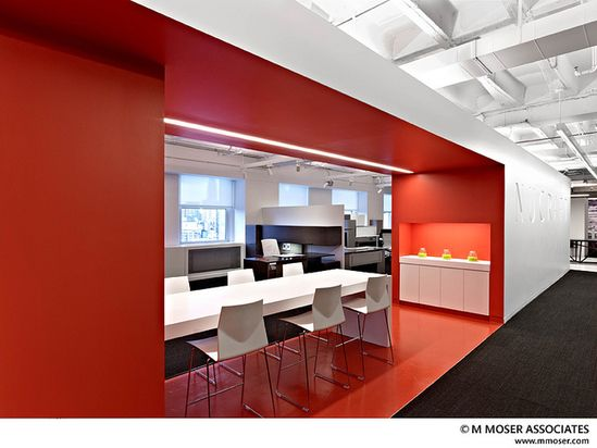 Orange / Black / White Office Design