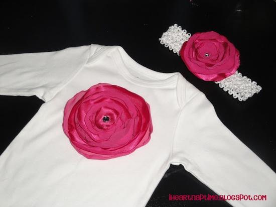 DIY rose petal shirt & headband