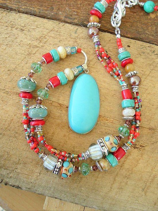 Boho Southwest Necklace Cowgirl Southwest Jewelry by BohoStyleMe