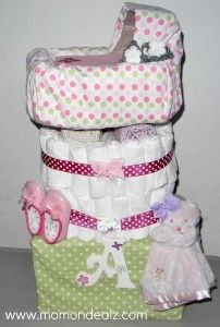 How to make a diaper cake!