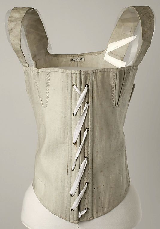 Corset 1810–50 - in the Metropolitan Museum of Art costume collections.